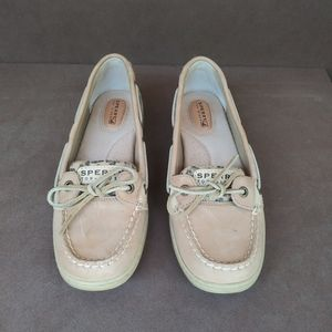 Sperry Top Sider Leaopard/Tan Boat Shoes size 8